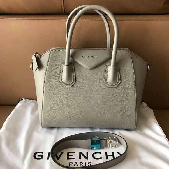 f03cad6befd Givenchy Bags | Small Antigona Gray Leather Satchel Nwt | Poshmark